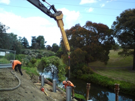 Retaining Wall Works - Otara Creek, Otara